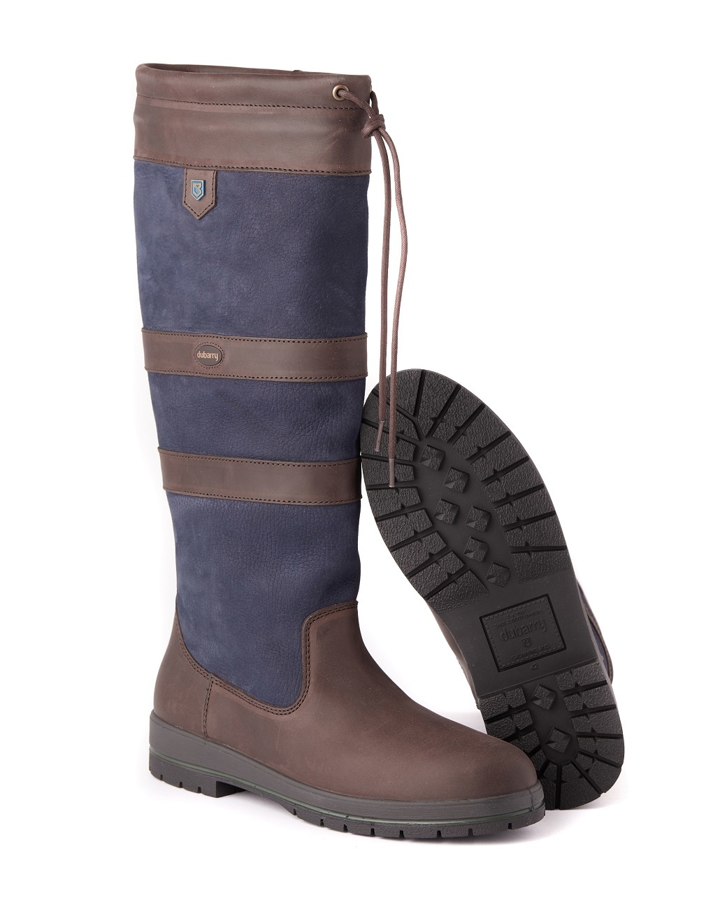 Dubarry Galway Extrafit™- Navy/Brown-2