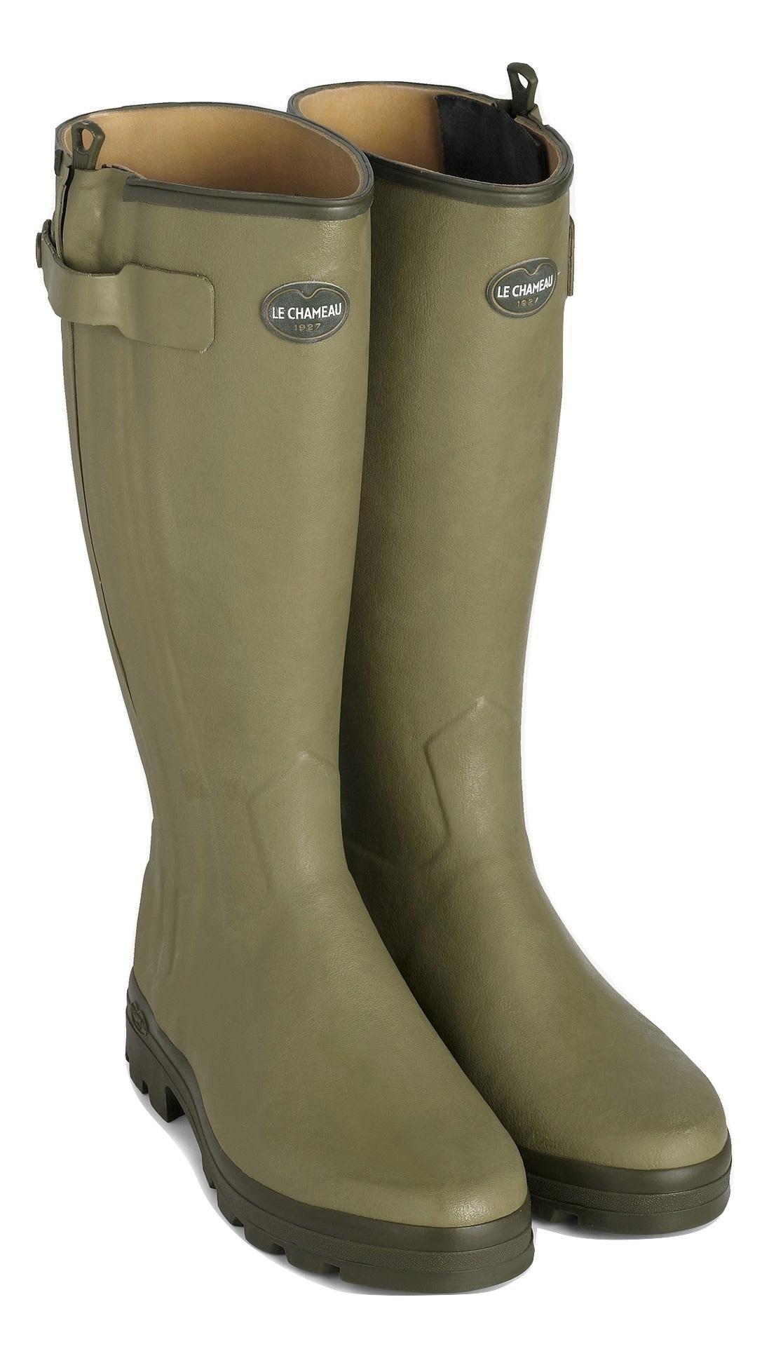 Le Chameau Men's Chasseur Leather Lined Boot Vert Vierzon-1