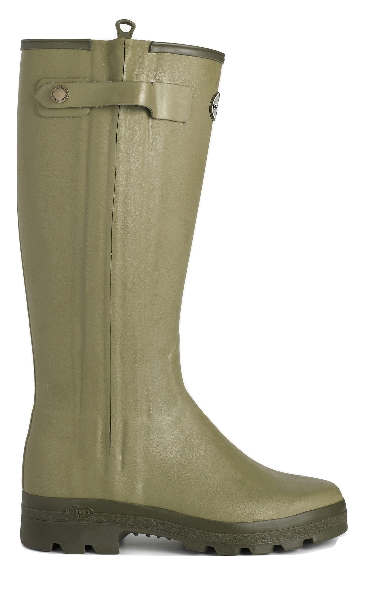Le Chameau Men's Chasseur Leather Lined Boot Vert Vierzon-2
