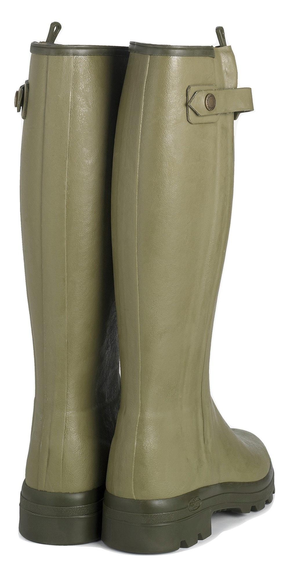 Le Chameau Men's Chasseur Leather Lined Boot Vert Vierzon-3