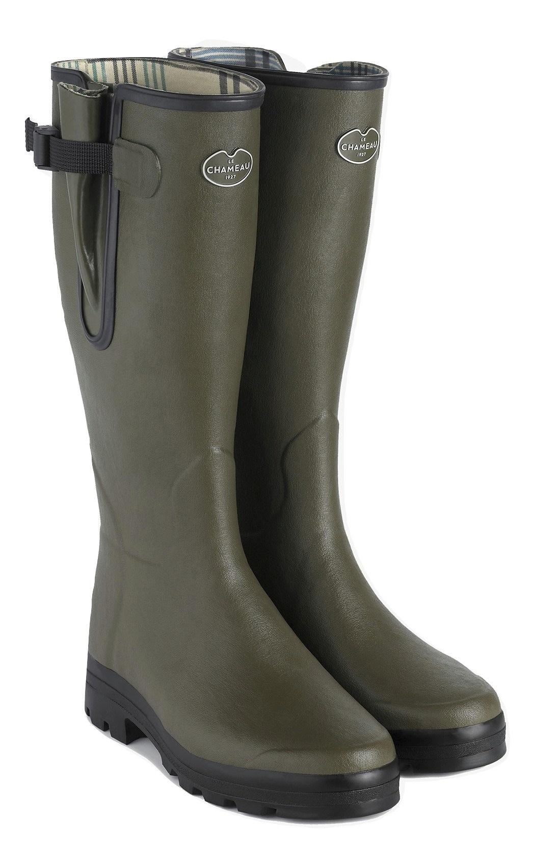 Le Chameau Men's Vierzon Jersey Lined Boot Vert Chameau-1
