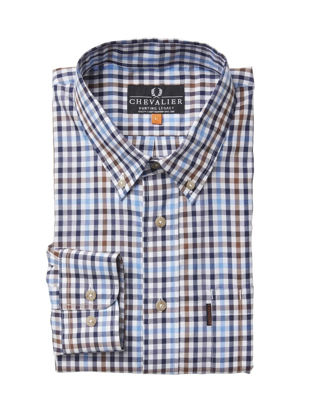 Chevalier Riley Cotton Twill Shirt BD LS Check-1
