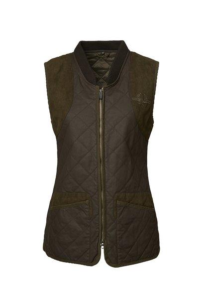Chevalier Vintage Quilt Vest Women Brown