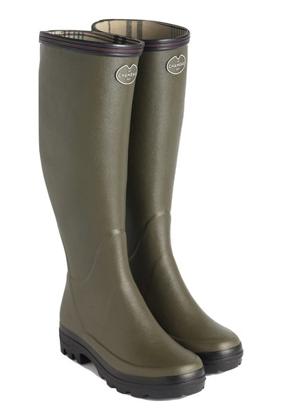 Le Chameau Women's Giverny Jersey Lined Boot Vert Chameau