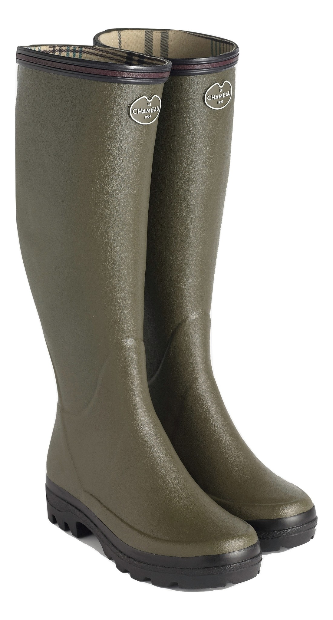 Le Chameau Women's Giverny Jersey Lined Boot Vert Chameau-1