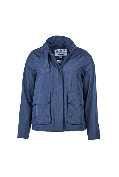 Barbour Cropped Rain Mac Navy