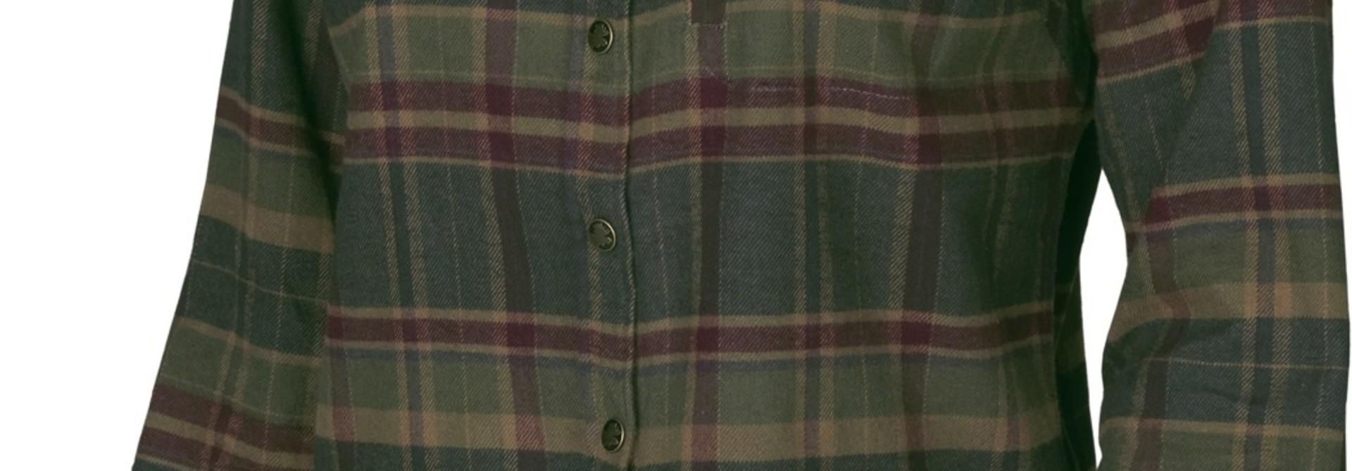 Härkila Pajala Lady L/S Shirt Rosin Green Check