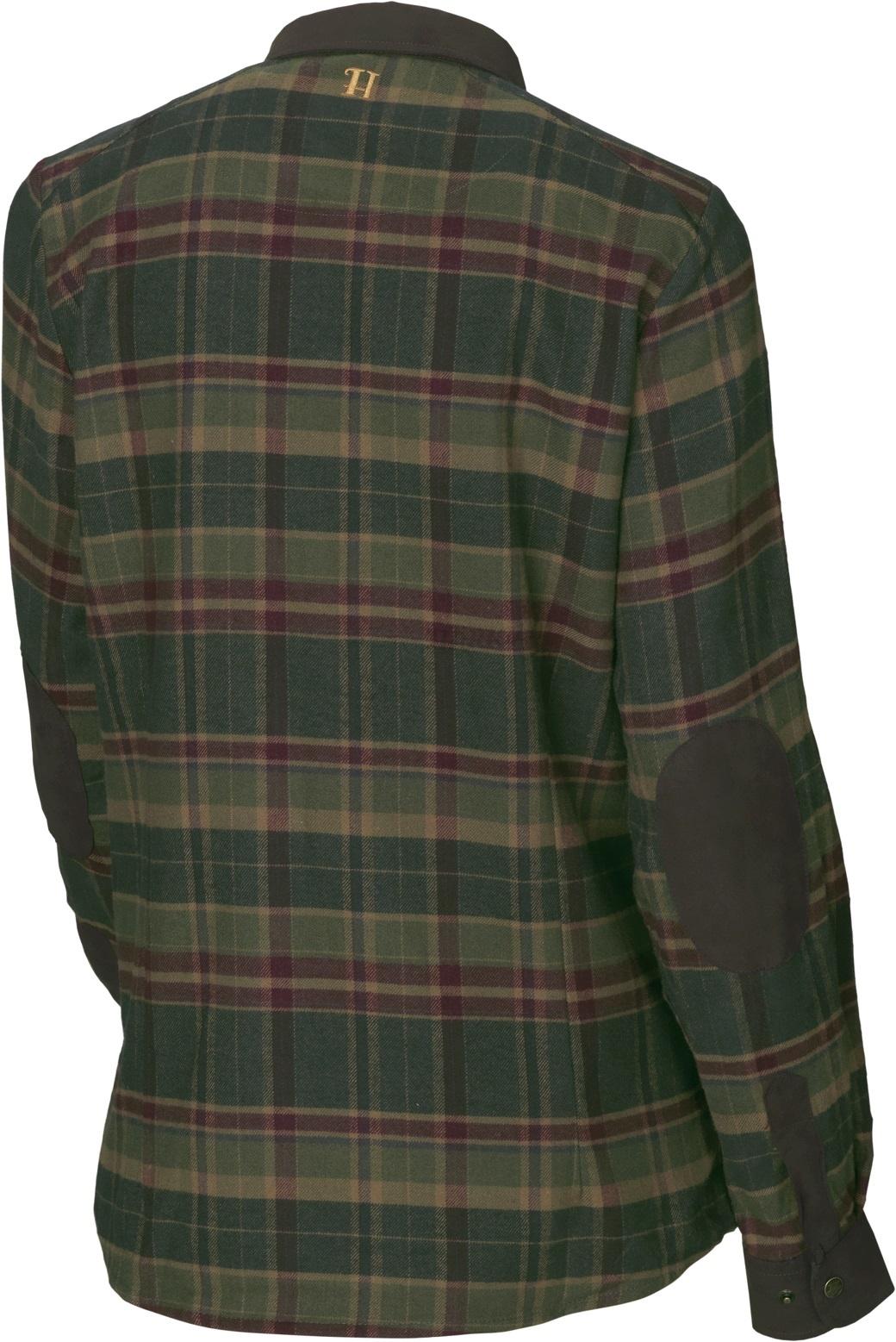 Härkila Pajala Lady L/S Shirt Rosin Green Check-2