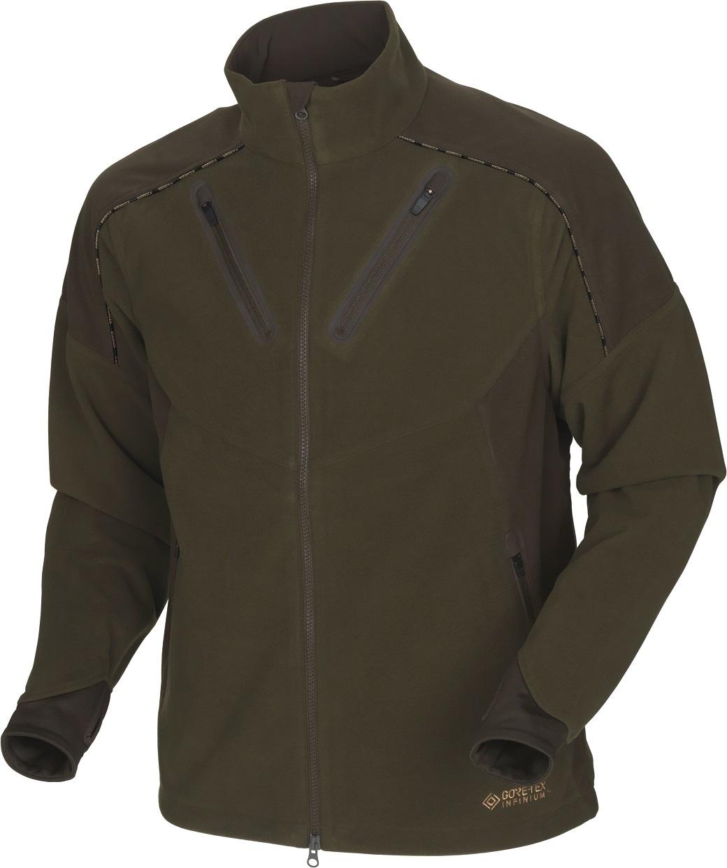 Härkila Mountain Hunter Fleece Jacket Hunting Green Shadow Brown-1