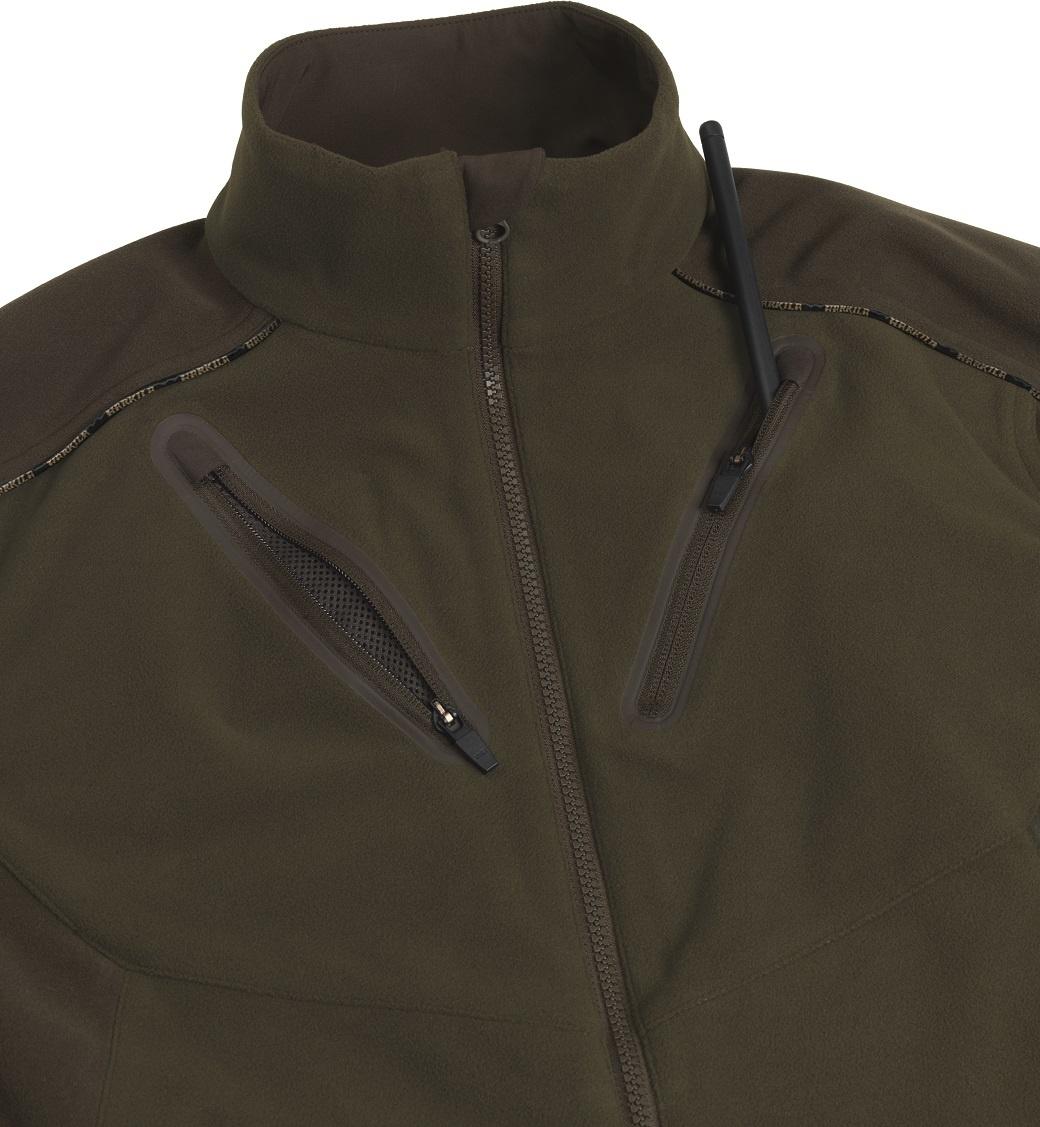 Härkila Mountain Hunter Fleece Jacket Hunting Green Shadow Brown-3
