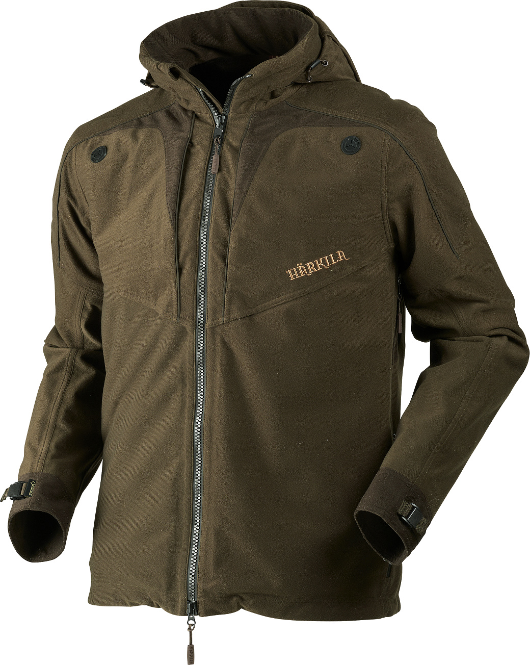 Härkila Norse Jacket Hunting Green Shadow Brown-1