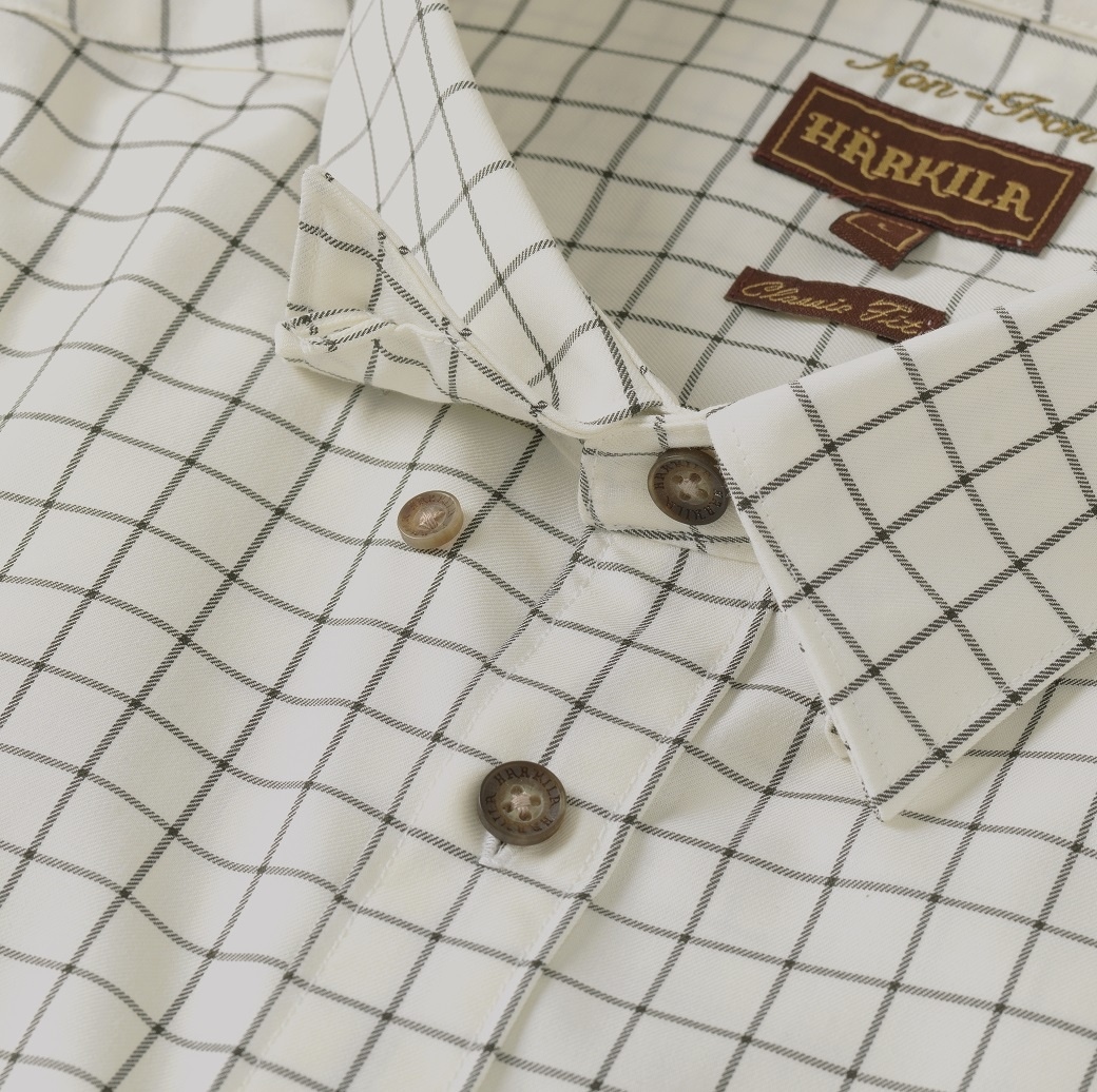 Härkila Stenstorp Shirt Dark Apple Check Button-Under-4