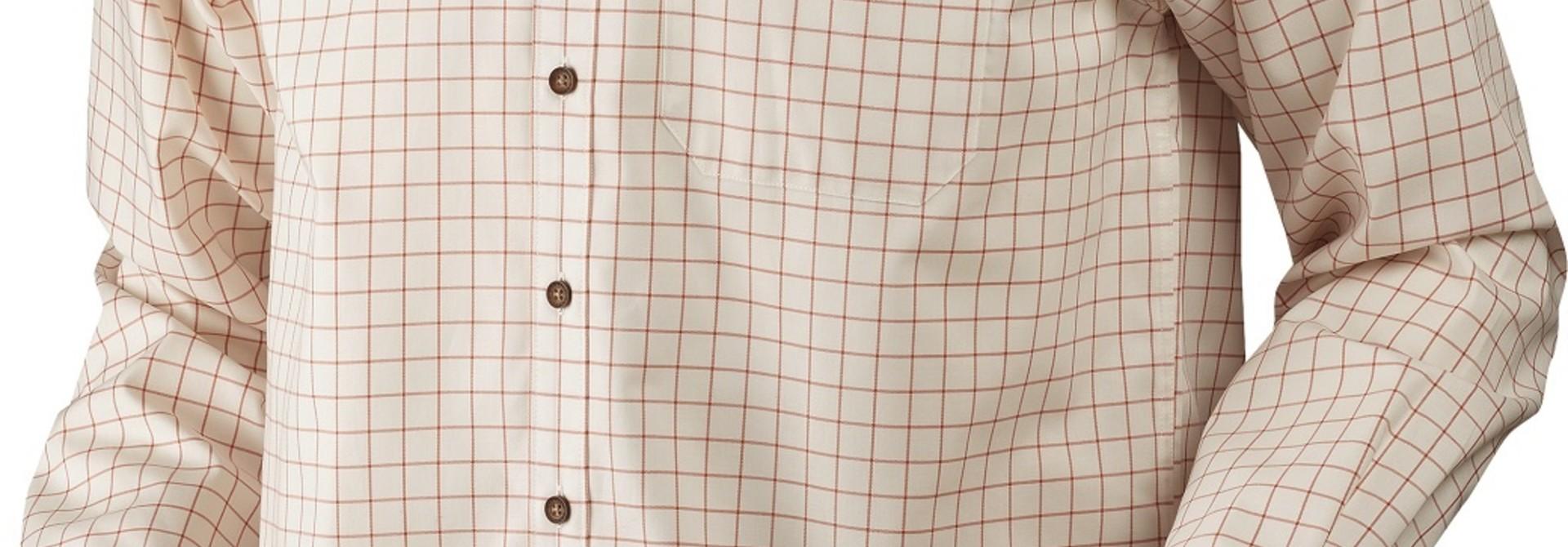 Härkila Stenstorp Shirt Burnt orange check Button-under