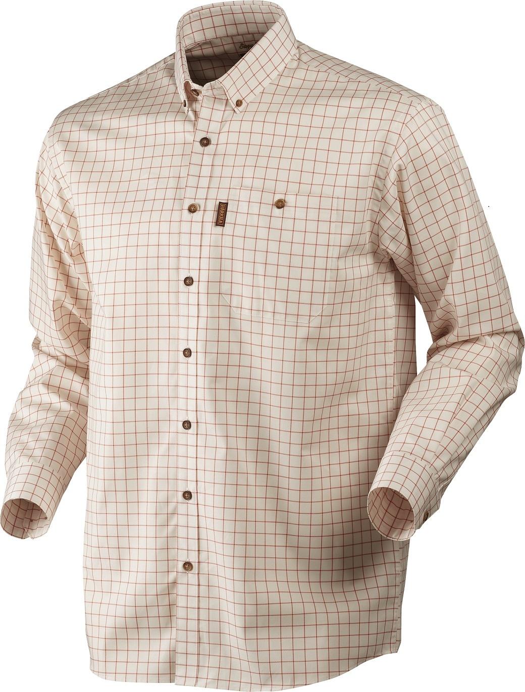 Härkila Stenstorp Shirt Burnt orange check Button-under-1