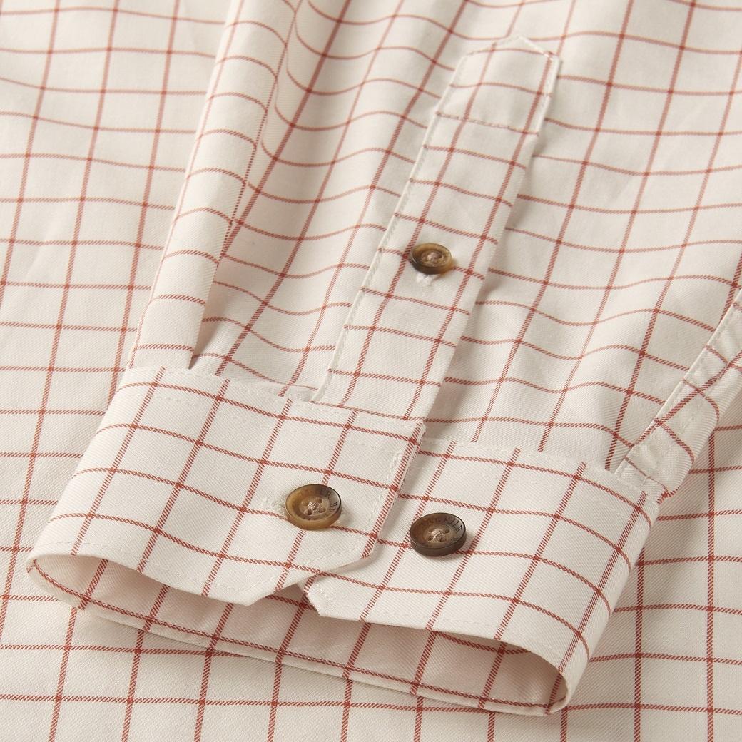 Härkila Stenstorp Shirt Burnt orange check Button-under-3