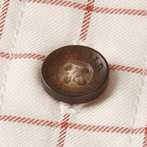 Härkila Stenstorp Shirt Burnt orange check Button-under-4
