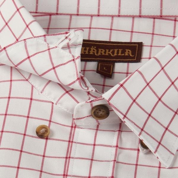 Härkila Stenstorp Shirt Bright Port Check Button-Under-3