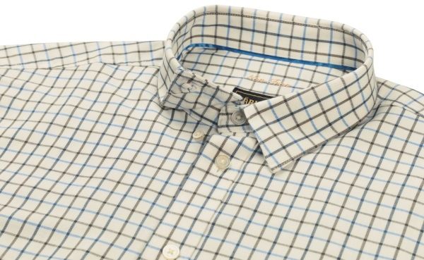 Härkila Stornoway Active Shirt Green/Blue Check-3