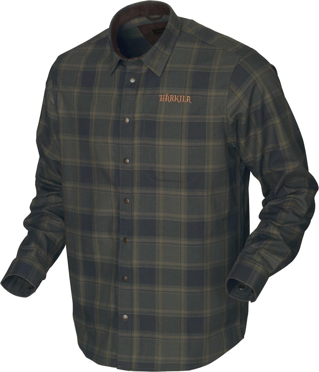Härkila Metso Active Shirt Willow Green Check-1