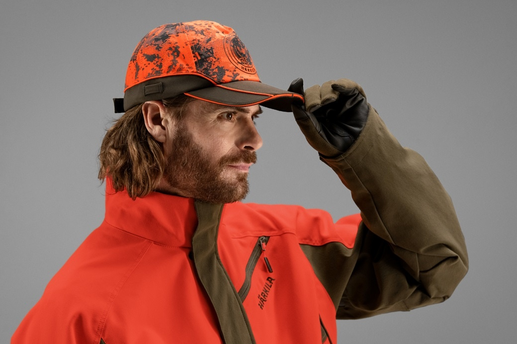 Härkila Wildboar Pro Light cap AXIS MSP® Orange Blaze Shadow Brown-3