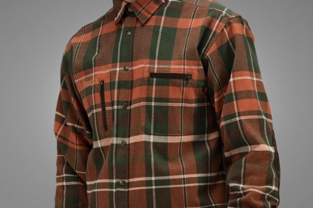 Härkila Eide Shirt Rust Check-3