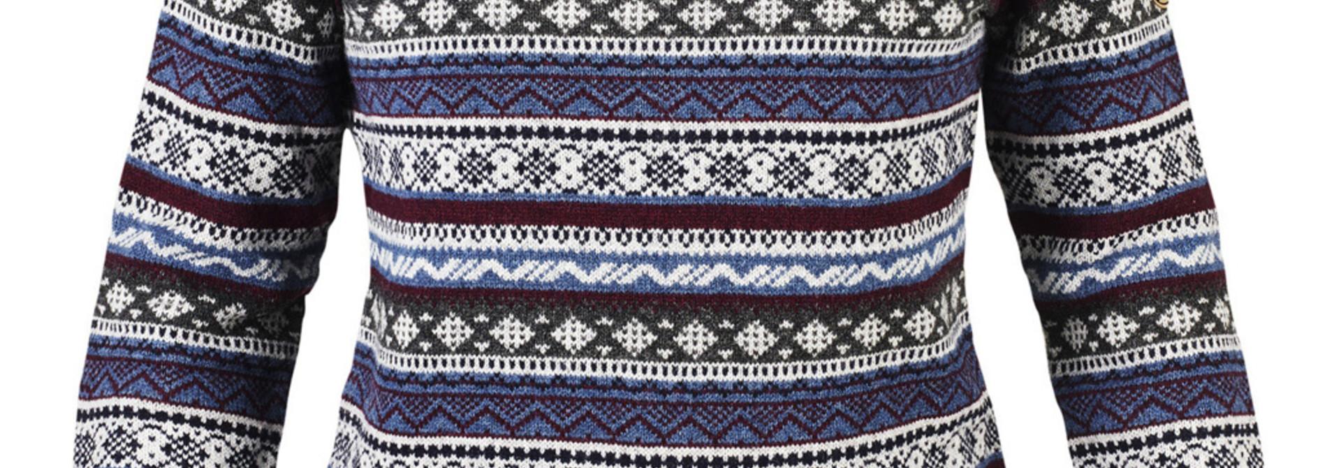 Fjällräven Övik Folk Knit Sweater W Uncle Blue