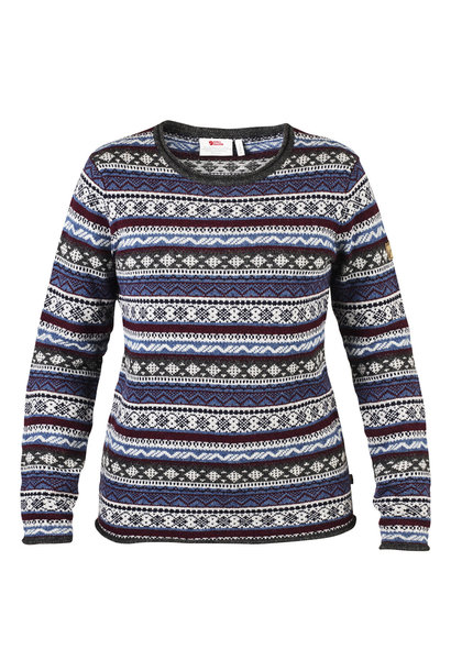 Fjällräven Övik Folk Knit Sweater W Uncle Blue