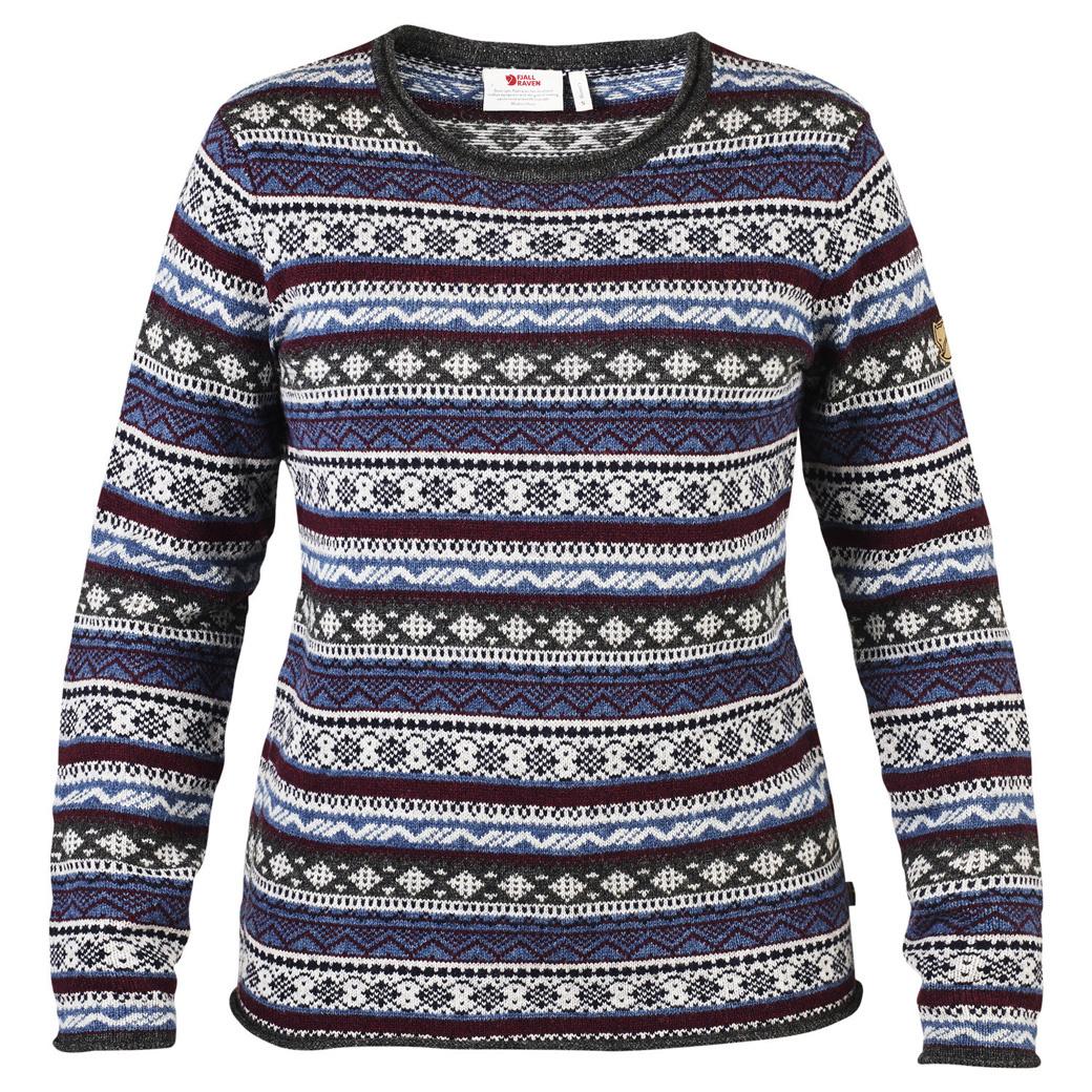 Fjällräven Övik Folk Knit Sweater W Uncle Blue-1