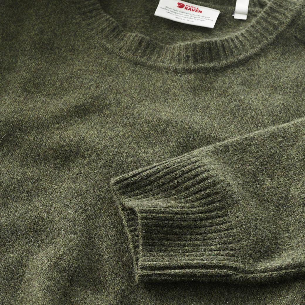 Fjällräven Övik Re Wool Sweater M Dark Olive-3