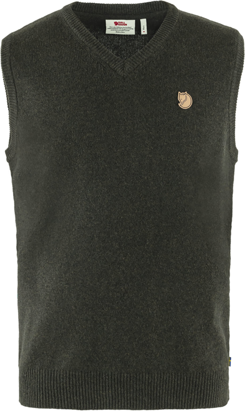Fjällräven Övik Wool Vest M Dark Olive-1