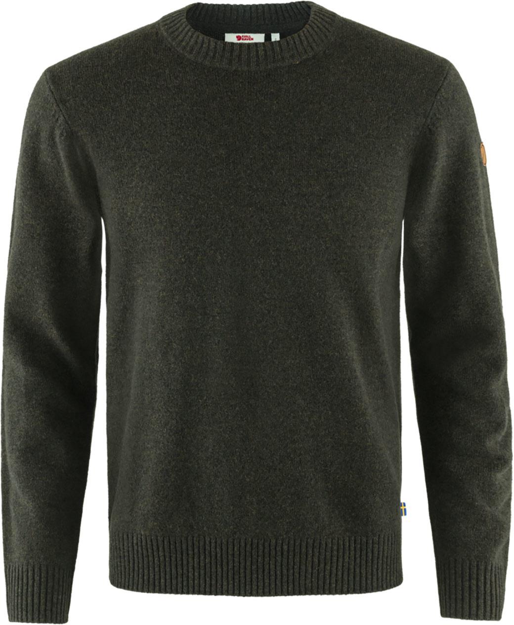 Fjällräven Övik Round-neck Sweater M Dark Olive-1