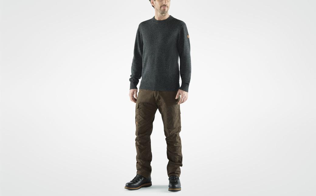Fjällräven Övik Round-neck Sweater M Dark Olive-3