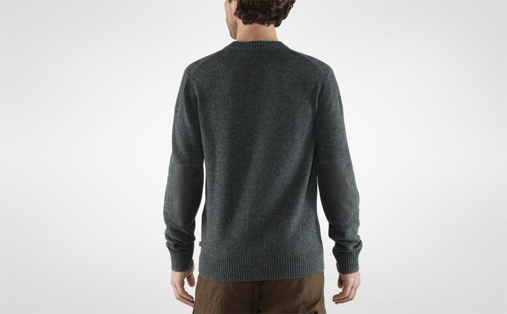 Fjällräven Övik Round-neck Sweater M Dark Olive-4