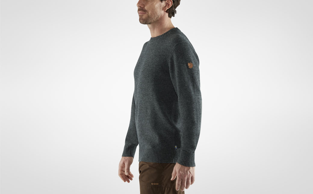 Fjällräven Övik Round-neck Sweater M Dark Olive-5