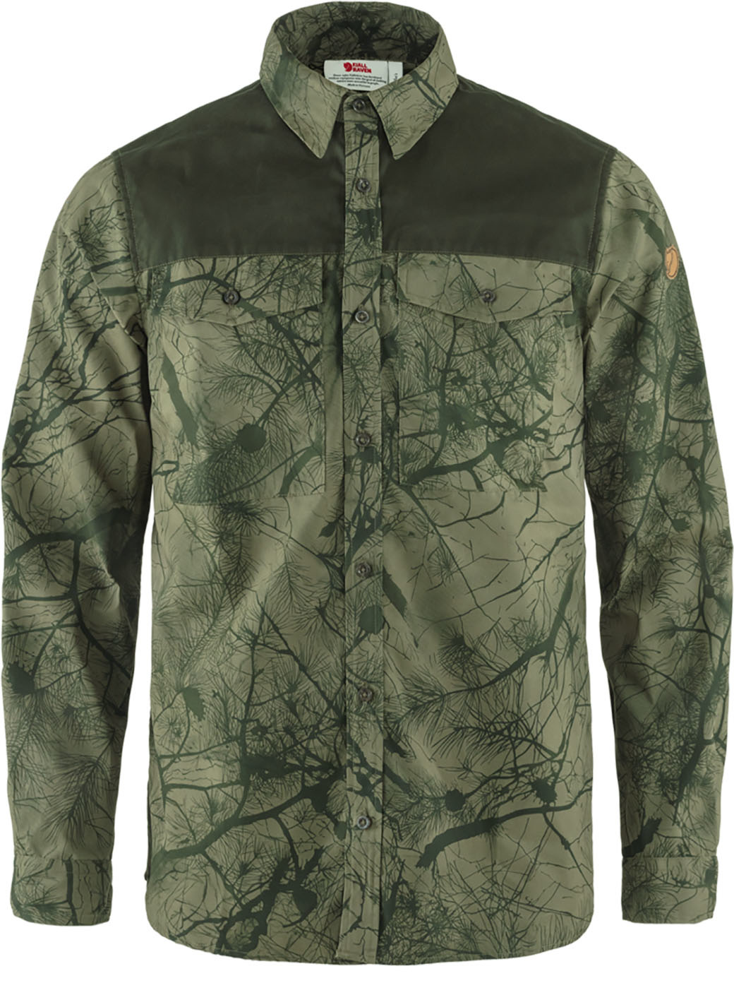 Fjällräven Värmland G-1000 Shirt M Green Camo-Deep Forest-1