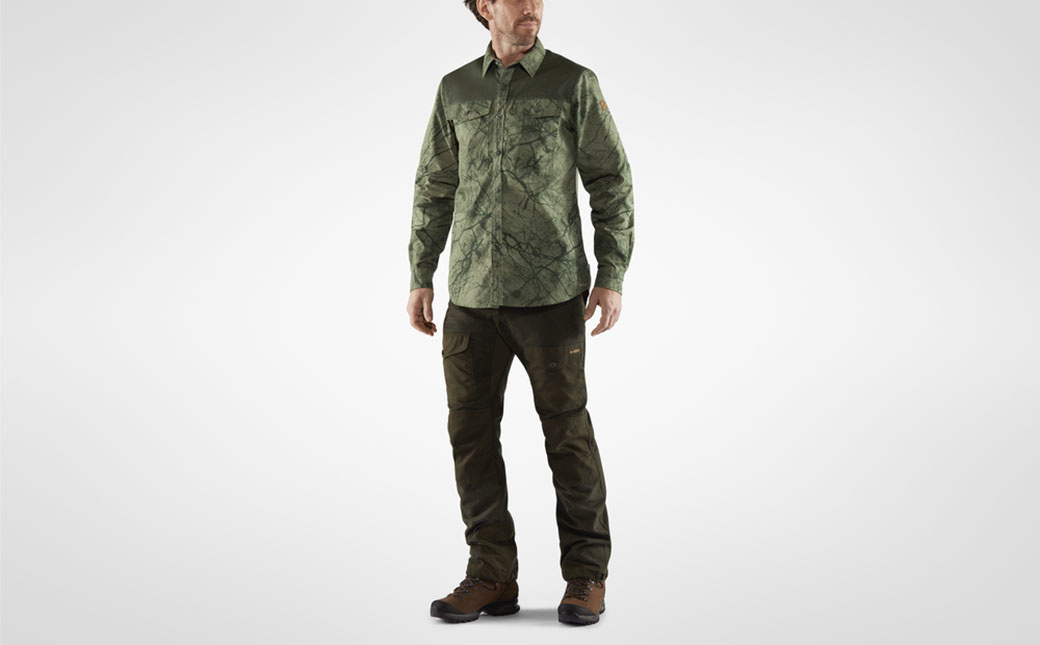 Fjällräven Värmland G-1000 Shirt M Green Camo-Deep Forest-6
