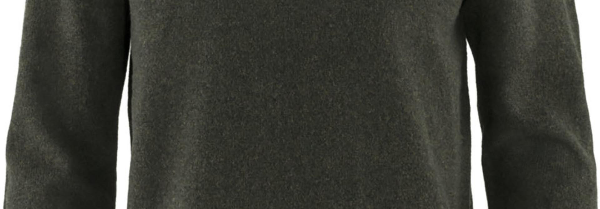 Fjällräven Övik V-neck Sweater M Dark Olive