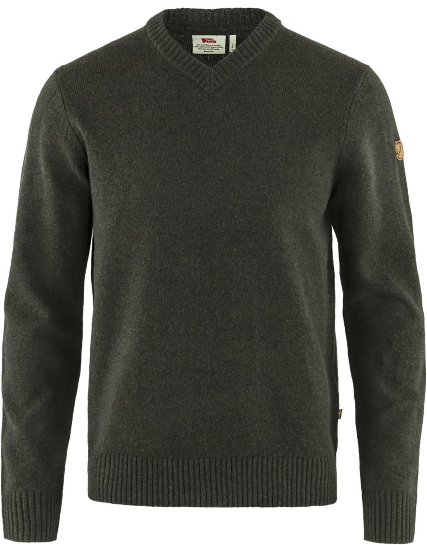 Fjällräven Övik V-neck Sweater M Dark Olive-1