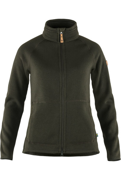 Fjällräven Övik Fleece Zip Sweater W Deep Forest