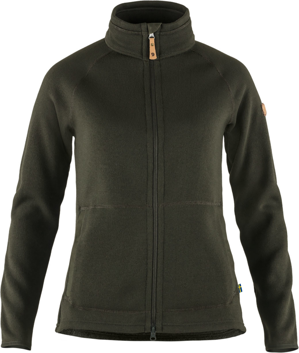 Fjällräven Övik Fleece Zip Sweater W Deep Forest-1
