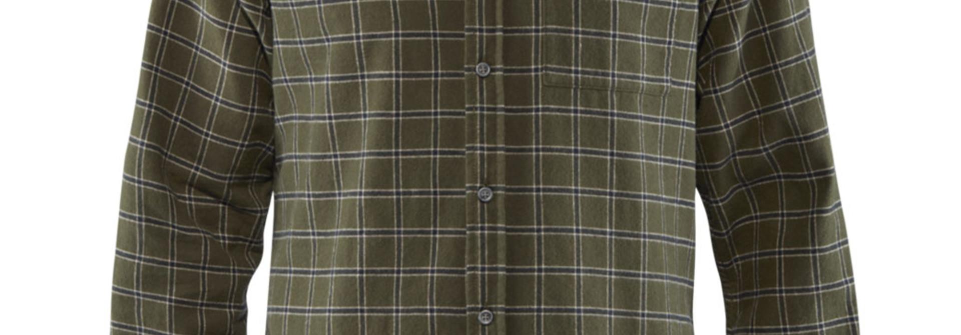 Fjällräven Övik Flannel Shirt M Deep Forest