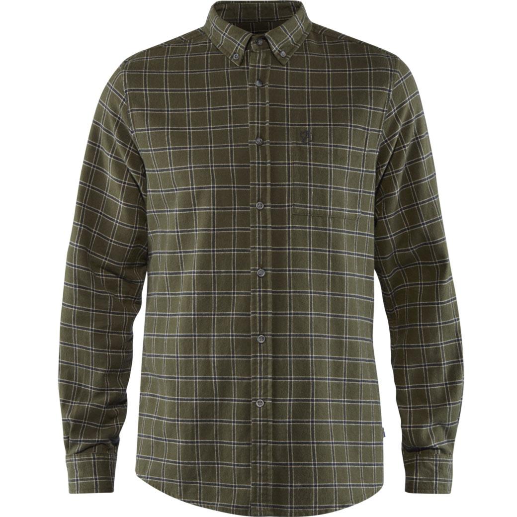 Fjällräven Övik Flannel Shirt M Deep Forest-1