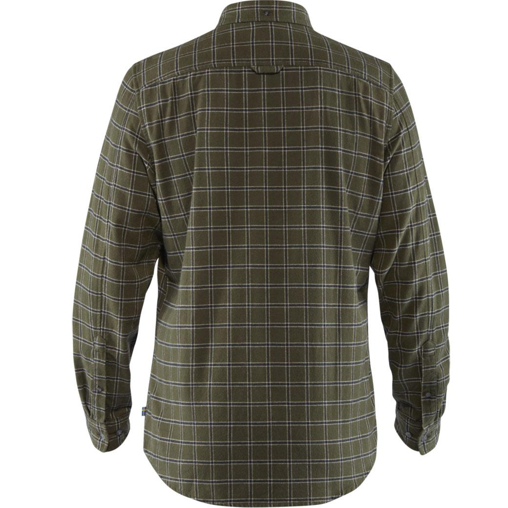 Fjällräven Övik Flannel Shirt M Deep Forest-2