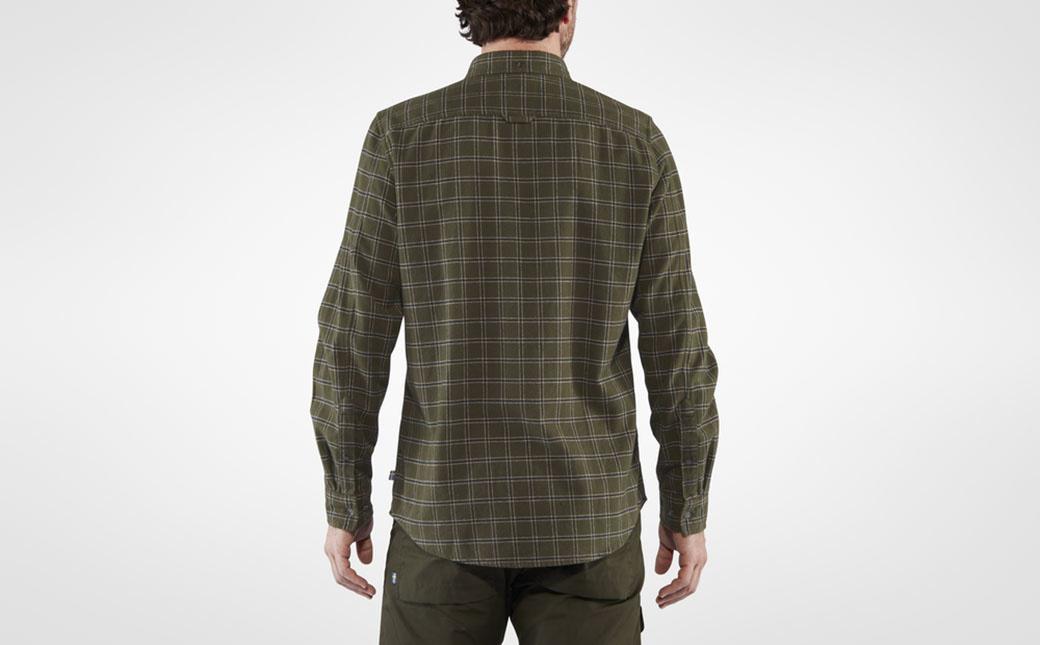 Fjällräven Övik Flannel Shirt M Deep Forest-4