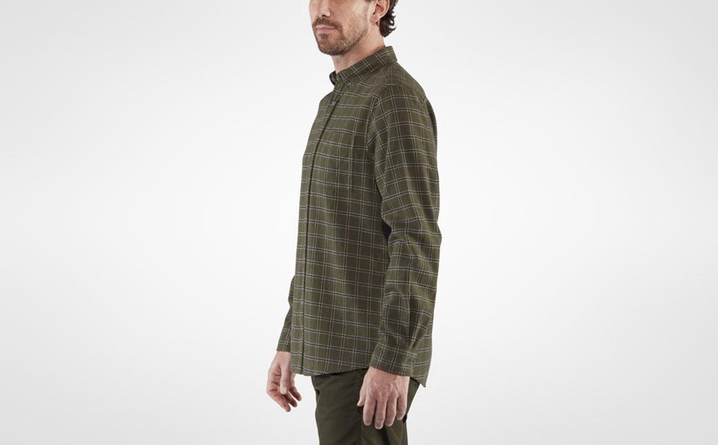 Fjällräven Övik Flannel Shirt M Deep Forest-5