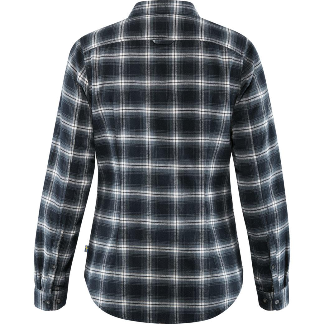 Fjällräven Övik Flannel Shirt W Dark Navy-2