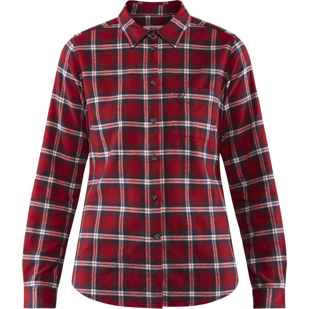 Fjällräven Övik Flannel Shirt W Deep Red-1