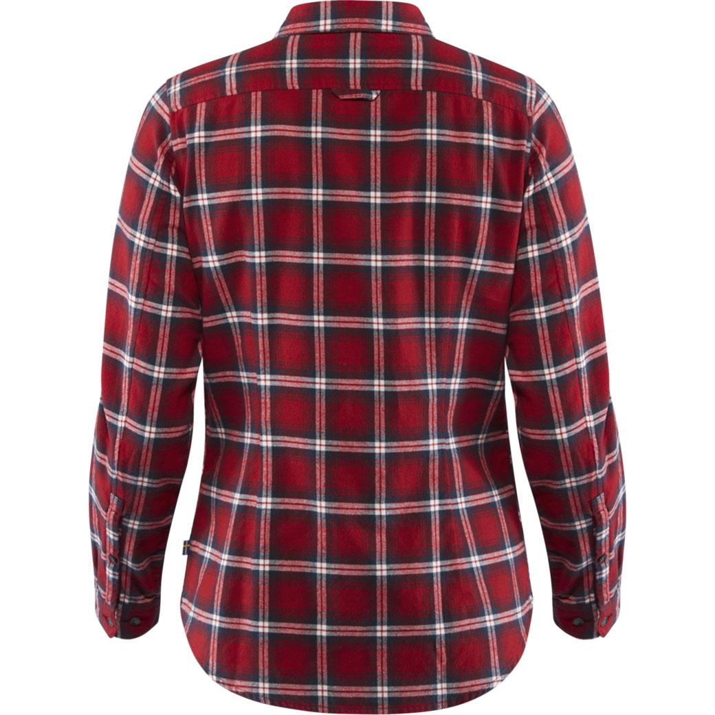 Fjällräven Övik Flannel Shirt W Deep Red-2
