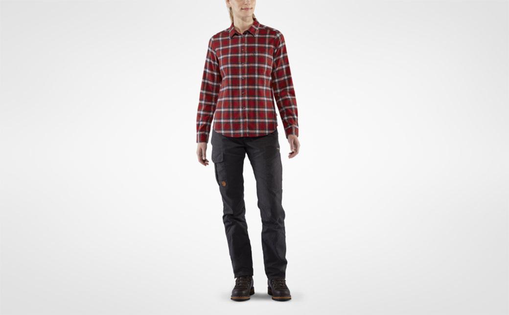Fjällräven Övik Flannel Shirt W Deep Red-3