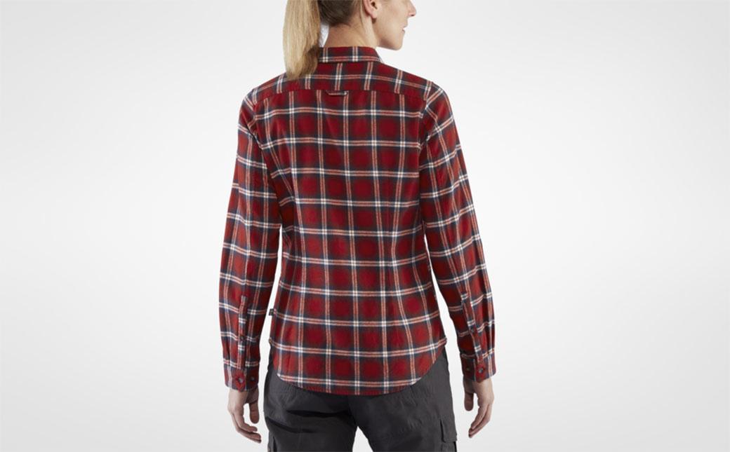 Fjällräven Övik Flannel Shirt W Deep Red-4